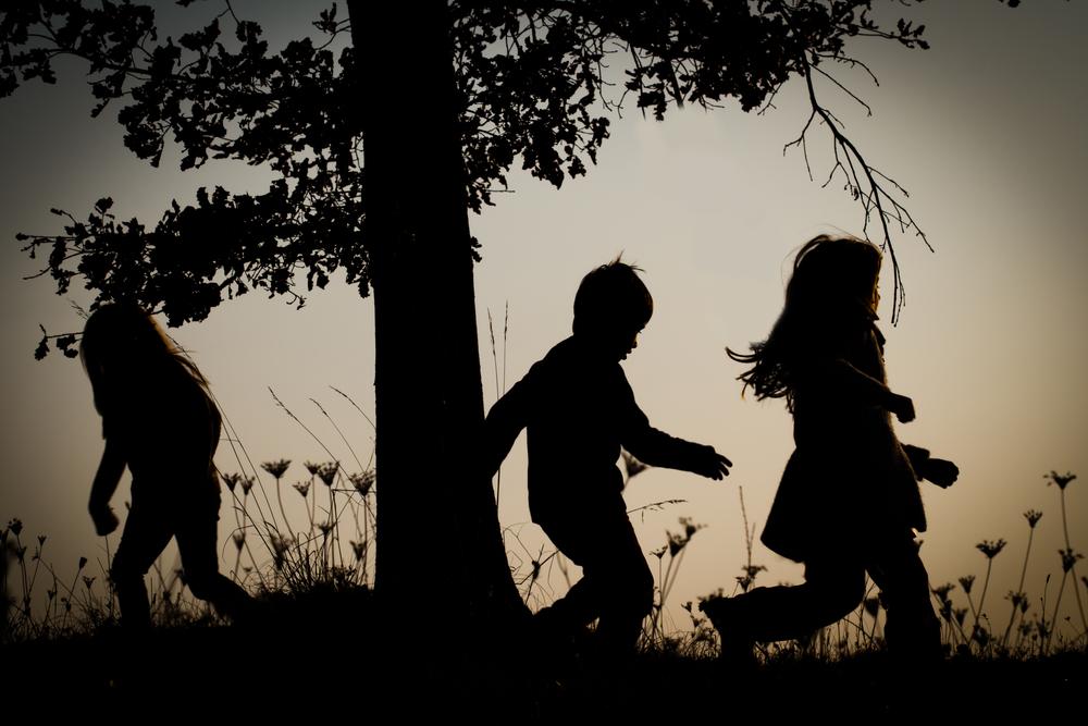 Running children.